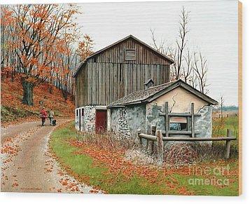 Autumn's Past Time  Wood Print