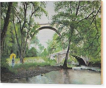 Aux Pieds Des Ponts De Pierre - Perthuis Wood Print