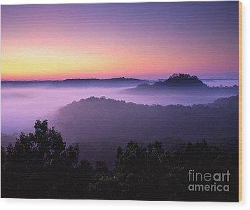 Auxier Ridge Dawn - Fm000023 Wood Print by Daniel Dempster
