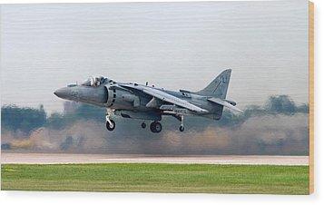 Av-8b Harrier Wood Print by Adam Romanowicz
