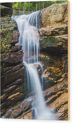 Wood Print featuring the photograph Avalanche Falls2 by Mike Ste Marie