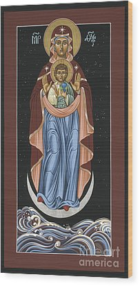 Wood Print featuring the painting Ave Maris Stella  Hail Star Of The Sea 044 by William Hart McNichols