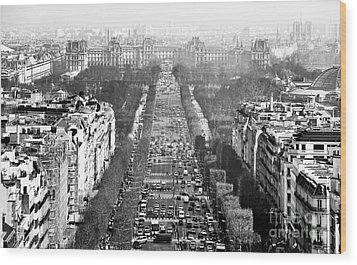Avenue Des Champs-elysees Wood Print by John Rizzuto