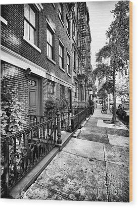 Avenue Walk Wood Print by John Rizzuto