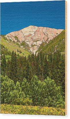 Avery Peak Wood Print