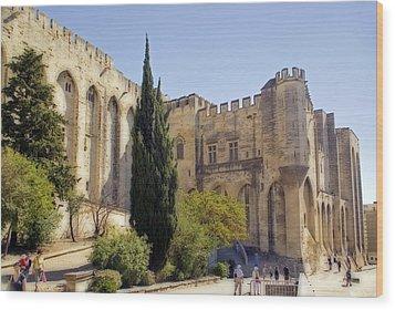 Avignon - Palais Des Papes Wood Print by Rod Jones