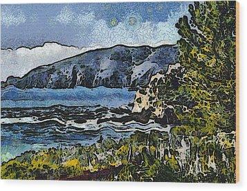 Avila Bay California Abstract Seascape Wood Print by Barbara Snyder