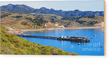 Avila Beach California Fishing Pier Wood Print