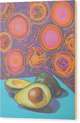 Avocado Delight Wood Print by Adel Nemeth