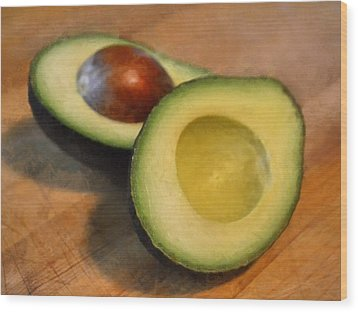 Avocado Wood Print by Michelle Calkins