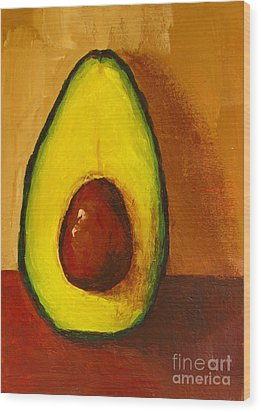 Avocado Palta 7 - Modern Art Wood Print