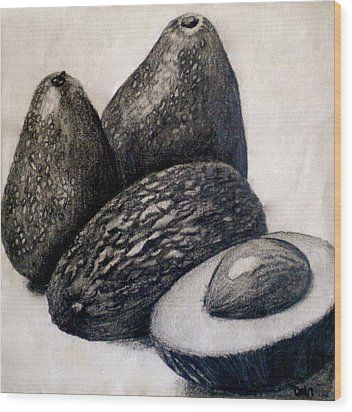 Avocados Wood Print by Debi Starr