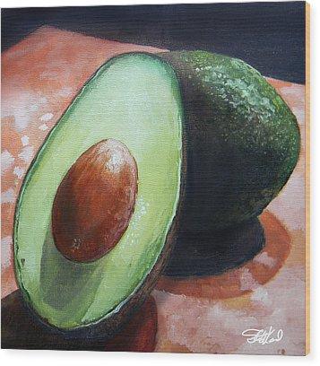 Avocados Wood Print by Steve Goad