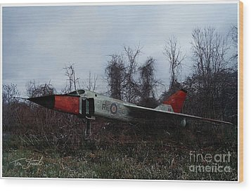 Avro Arrow In The Cove Wood Print by Tom Straub