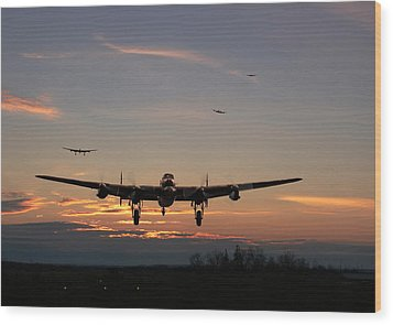Avro Lancaster - Dawn Return Wood Print