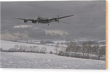 Avro Lancaster - Limping Home Wood Print