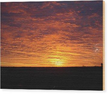 Wood Print featuring the photograph Awaiting The Dawn by J L Zarek