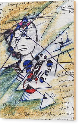 Awake In The Dream Wood Print by Bruce Manaka