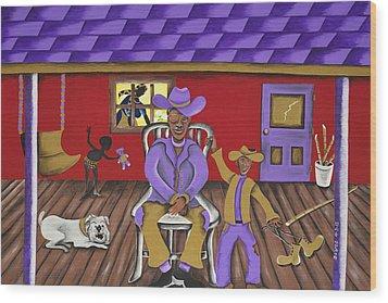 Awake Wood Print by Patricia Sabree