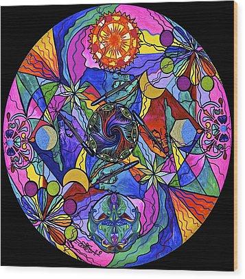Awakened Poet Wood Print