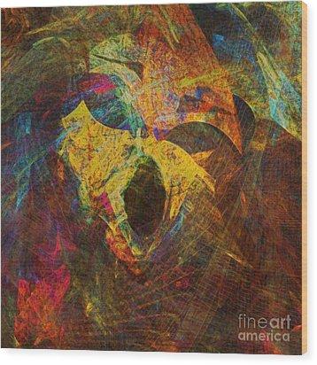 Awakening Wood Print by Klara Acel