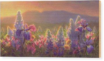 Awakening - Mt Susitna Spring - Sleeping Lady Wood Print by Karen Whitworth