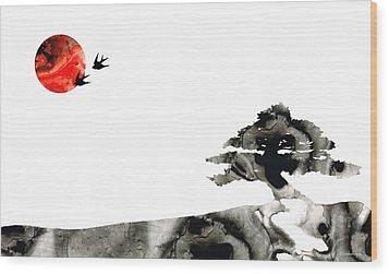 Awakening - Zen Landscape Art Wood Print