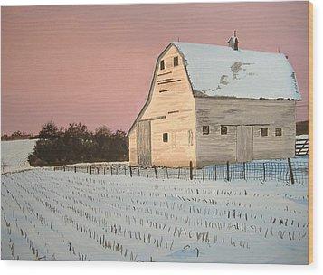 Award-winning Original Acrylic Painting - Nebraska Barn Wood Print by Norm Starks