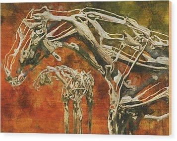 Aware Wood Print by Jack Zulli