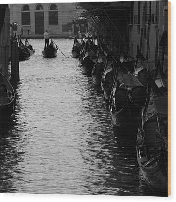 Away - Venice Wood Print by Lisa Parrish
