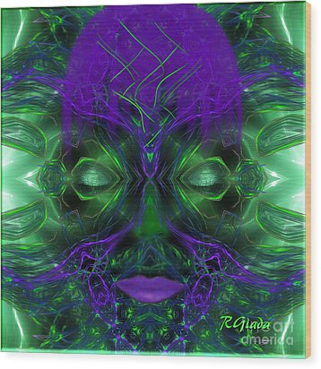 Ayahuasca Experience - Fantasy Art By Giada Rossi Wood Print