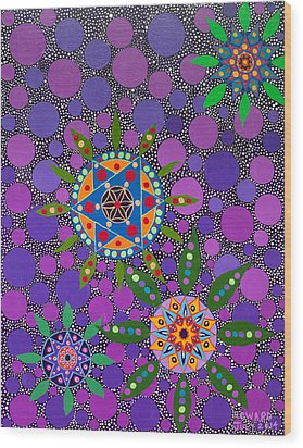 Ayahuasca Vision - The Healing Power Of Plants Wood Print