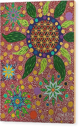 Ayahuasca Vision - The Opening Of The Heart Wood Print