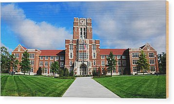 Wood Print featuring the photograph Ayres Hall by Paul Mashburn