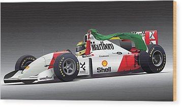 Ayrton Senna Da Silva Art Wood Print