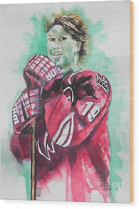 Az Coyotes ...hockey Player Shane Doan Wood Print by Chrisann Ellis