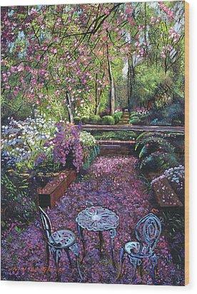 Azaleas And Cherry Blossoms Wood Print by David Lloyd Glover