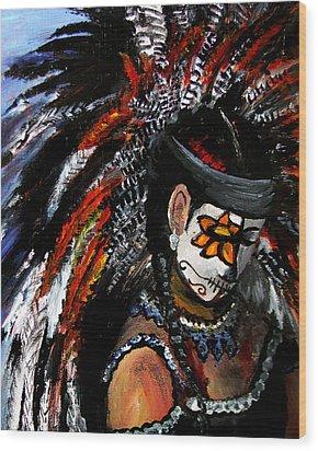 Aztec Celebration Wood Print