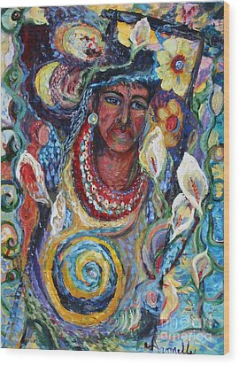 Aztec Garden Wood Print