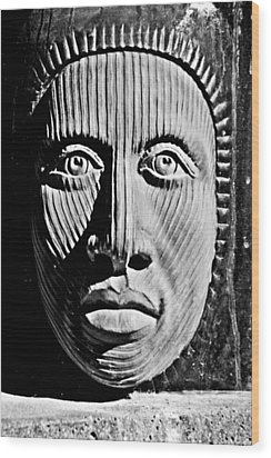 Aztec Man Wood Print by Bob Wall