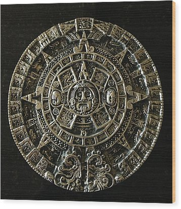Aztec Wood Print by Julio Lopez