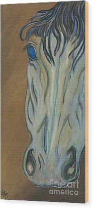 Azul Wood Print by Ella Kaye Dickey