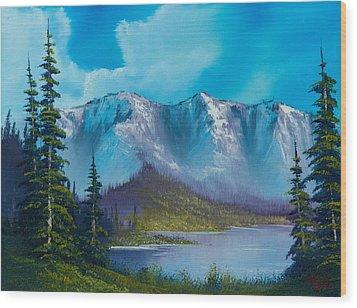 Azure Ridge Wood Print by C Steele
