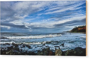 Wood Print featuring the photograph Azure Seas by Joseph Hollingsworth