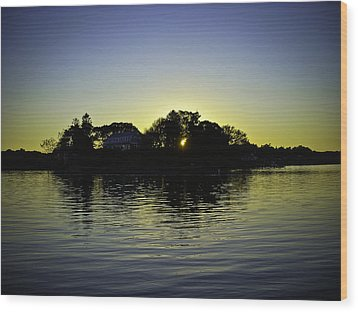 Azure Sunset At Onset Bay Wood Print by LA Beaulieu