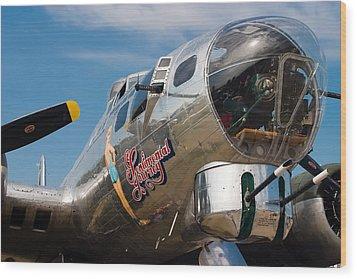 B-17 Flying Fortress Wood Print by Adam Romanowicz