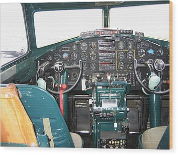 B-17 Flying Fortress Yankee Lady Cockpit Wood Print by Don Struke