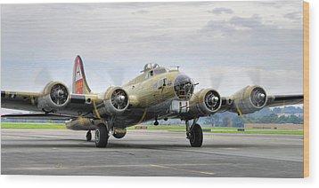 B-17g Wood Print by Dan Myers