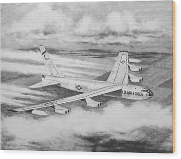 B-52 Wood Print by Douglas Castleman