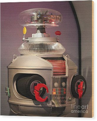 Wood Print featuring the photograph B-9 Robot From Lost In Space by Cynthia Snyder